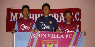 Aston Villa Supports Nepali Footballers of Machhindra FC