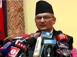 Baburam Bhattarai addressing Nepal