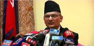 Baburam Bhattarai addressing Nepal