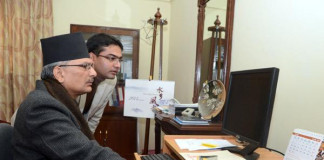Baburam Bhattarai using Twitter Nepali Blogger