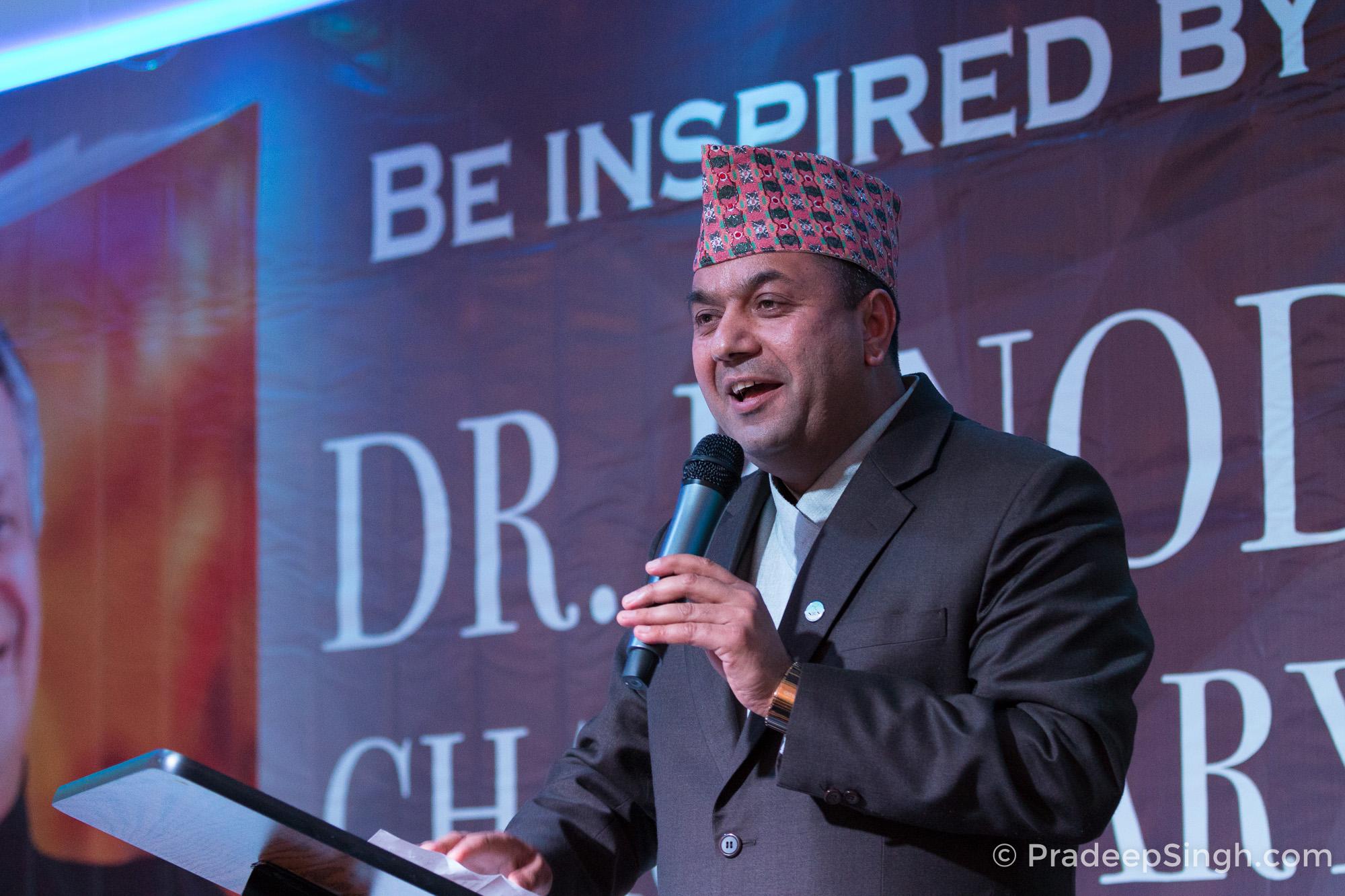 NRNA Europe Coordinator Mr. Kul Acharya at Binod Chaudhary London Pradeep Singh Photo-1201
