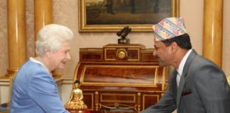 Dr Suresh Chandra Chalise with UK Queen Elizabeth