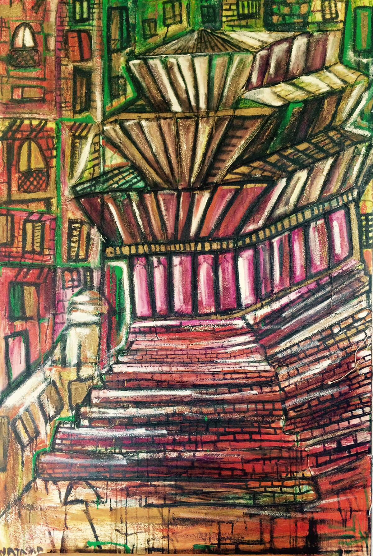 Durbar-Square-Temple-Painting-Natasha-Jade