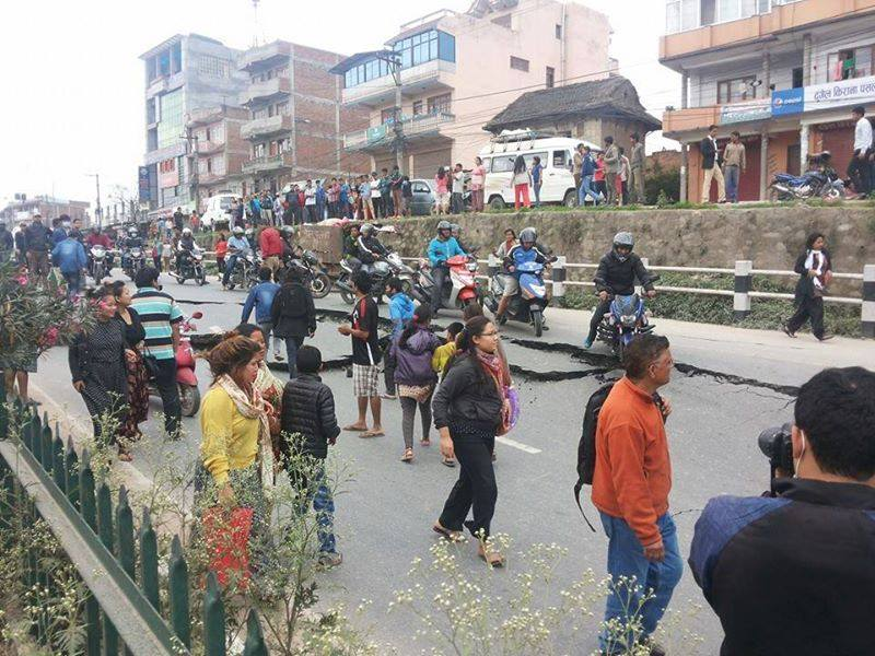 Earthquake strike Nepal