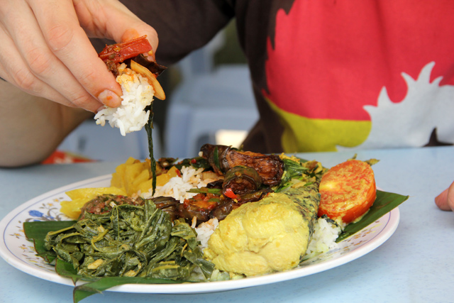 Eating with Hand in Nepal