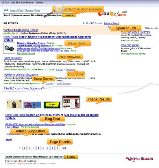 Ebuzzasia Nepali Search Engine
