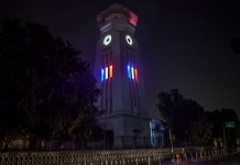 Ghantaghar Kathmandu solidarity with Paris 3
