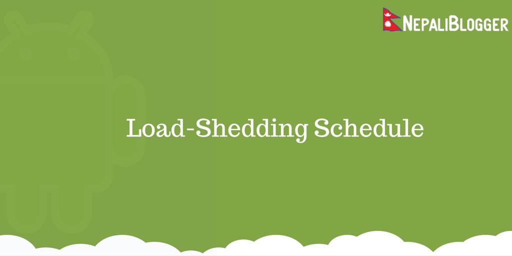 Load Shedding: Load Shedding Schedule