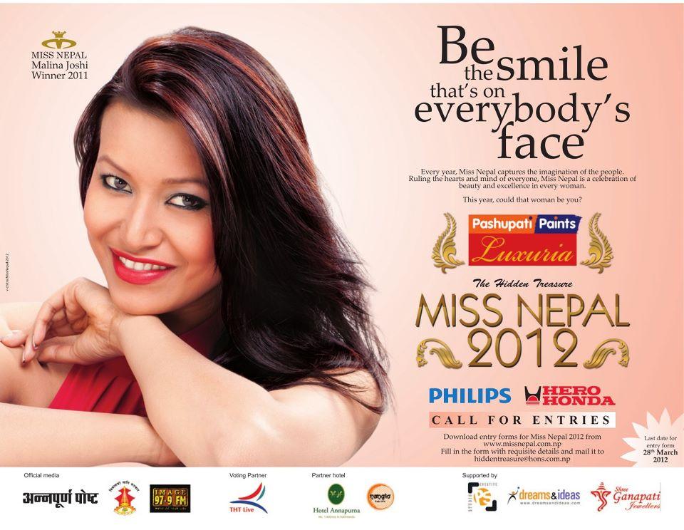 Malina Joshi Calling for Miss Nepal 2012 Applications