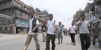 Maoists Cadres on Street