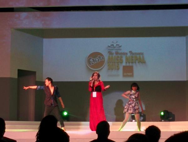 Musical performance by Sanjita. #MissNepal