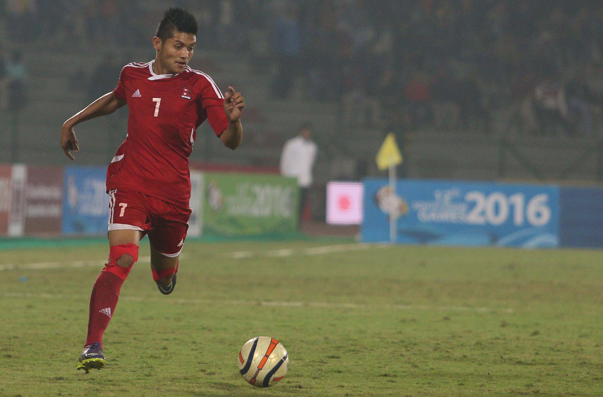 Nepali Player win India in South Asian Games 2016 1