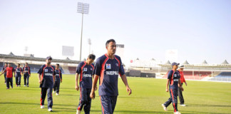 Nepali Team at ICC World T20 Qualifiers tournament