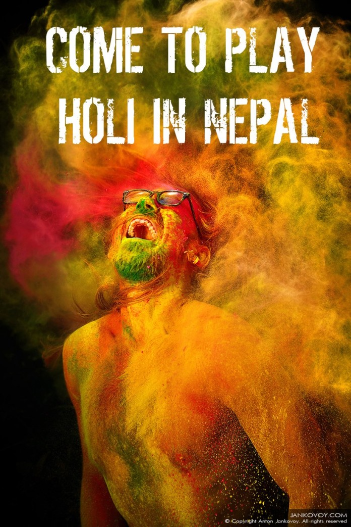 Play Holi in Nepal