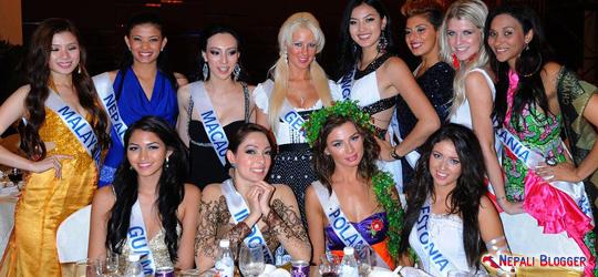 Sarina Maskey in Miss International 2011