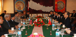 Wen Jiabao and Nepal Government talks held at the PM office in Singha Durbar