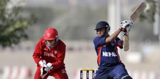 pradeep Airee in Nepal vs denmark match